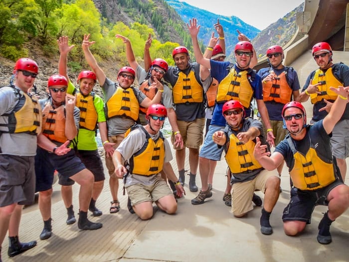 Bachelor group ready to raft