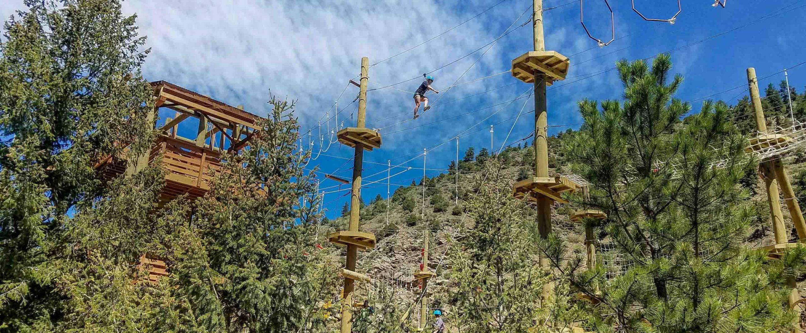 Sky Trek Aerial Park In Idaho Springs Colorado